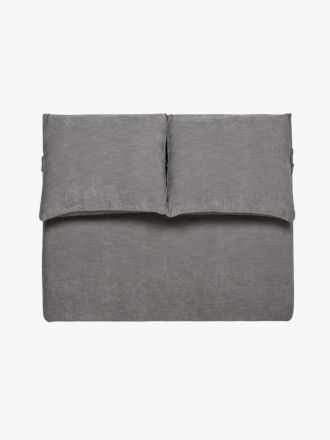 Felix Slouch Bedhead in Grey Stone - Queen