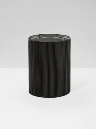 Harper Round Stool - Black