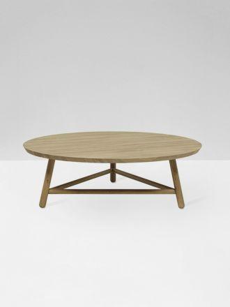 Linea Tri Base Coffee Table in Solid Oak