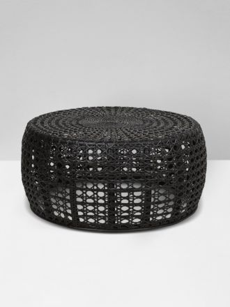 Tully Woven Coffee Table in Black