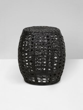 Tulley Woven Side Table in Black