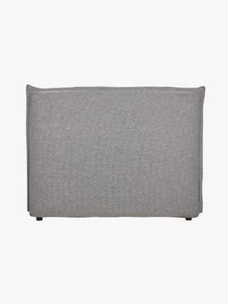 Vittoria Flanged Bedhead in Charcoal Granite - Queen