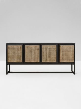 Willow Woven Buffet in Ebony/Natural