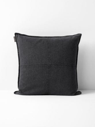 Vintage Denim Cushion - Grey
