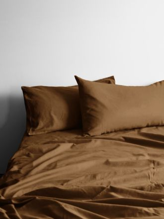 Halo Organic Cotton Sheet Set - Tobacco