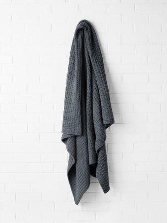 Hand Knit Throw - Greystone