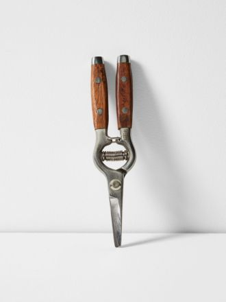 Flower Snips with Redwood Handle