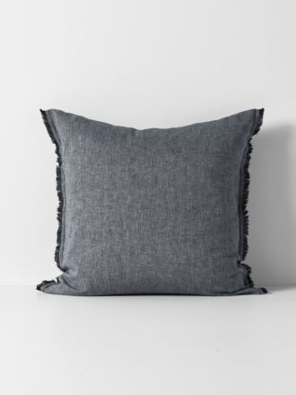 Herringbone European Pillowcase - Ink