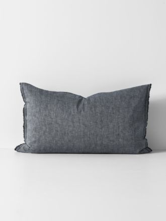 Herringbone Standard Pillowcase - Ink