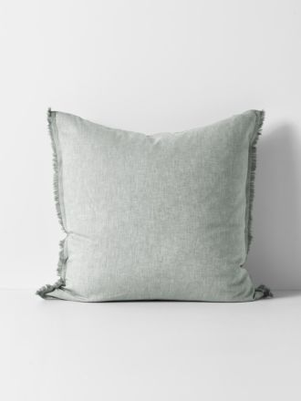 Herringbone European Pillowcase - Limestone