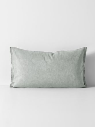Herringbone Standard Pillowcase - Limestone