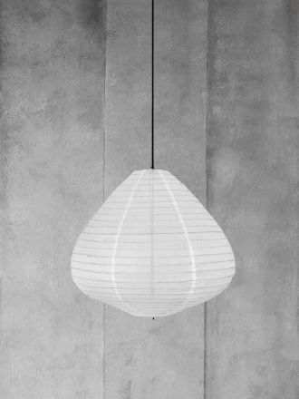 Fabric Lantern Natural Medium by HK Living