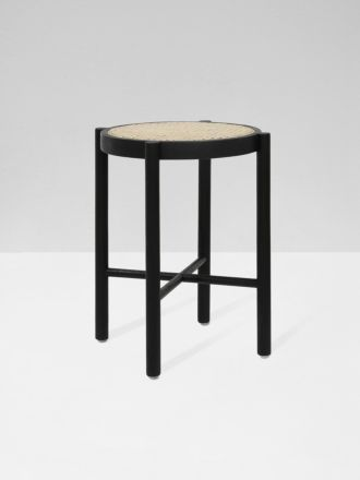 Webbing Stool Black by HK Living
