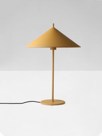 Metal Triangle Table Lamp Large Ochre by HK Living