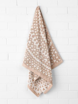 Inca Bath Towel - Pink Clay