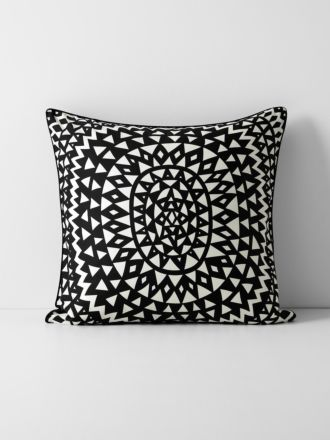 Inca European Pillowcase - Black