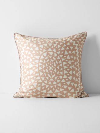 Inca European Pillowcase - Pink Clay