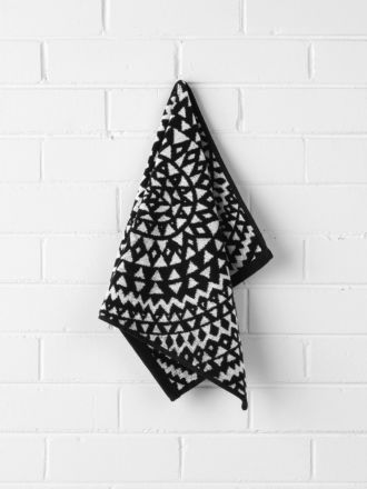 Inca Hand Towel - Black
