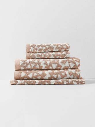 Inca Bath Towel Set - Pink Clay