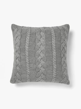 Jumbo Cable Cushion - Grey Marle
