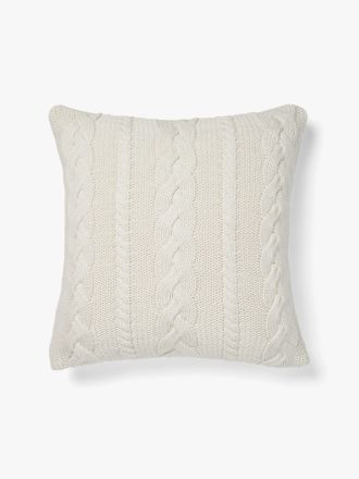 Jumbo Cable Cushion - Marshmallow