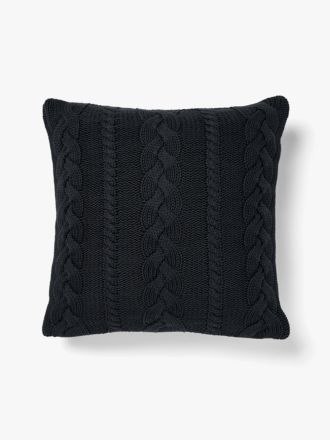 Jumbo Cable Cushion - Slate