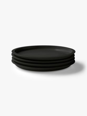 Kali Dinner Plate set of 4 - Graphite