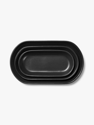 Kali Platter Set of 3 - Graphite