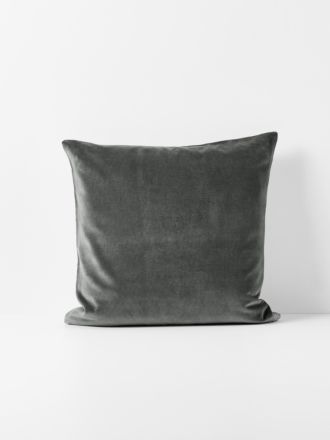 Luxury Velvet Cushion - Charcoal