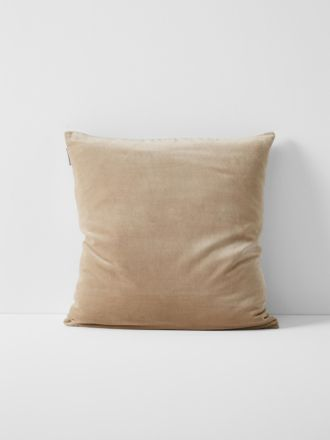 Luxury Velvet Cushion - Nude