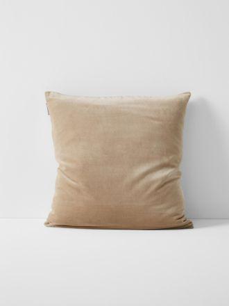 Luxury Velvet Cushion - Nude