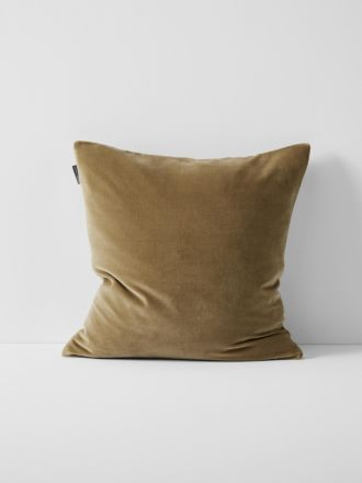 Luxury Velvet Cushion - Tan