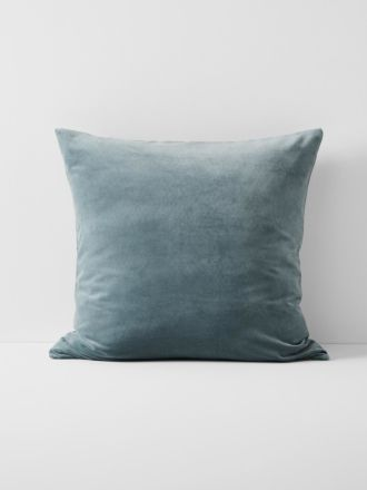 Luxury Velvet European Pillowcase- Eucalypt
