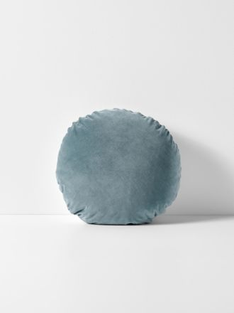 Luxury Velvet Round Cushion - Eucalypt