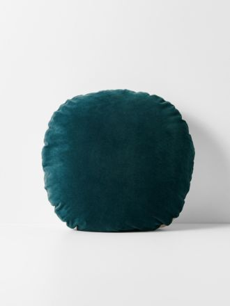 Luxury Velvet 55cm Round Cushion - Indian Teal