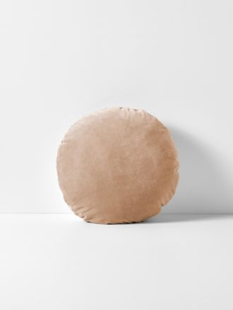 Luxury Velvet Round Cushion - Nude