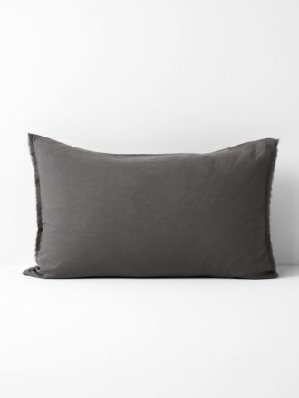 Maison Fringe Standard Pillowcase - Flint