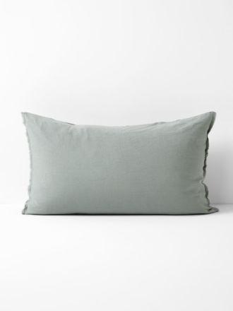 Maison Fringe Standard Pillowcase - Sage