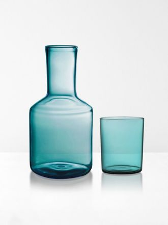 Carafe & Glass by Maison Balzac - Teal