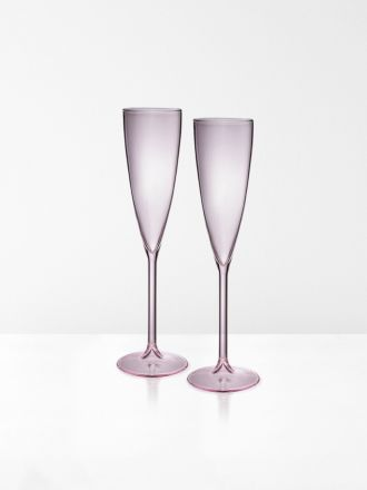 Champagne Flutes set of 2 by Maison Balzac - Pink