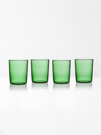 Glasses set of 4 by Maison Balzac - Green