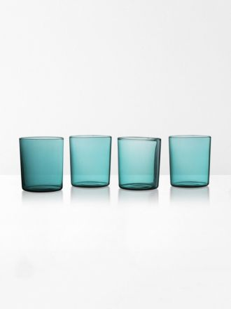 Glasses set of 4 | Maison Balzac - Teal
