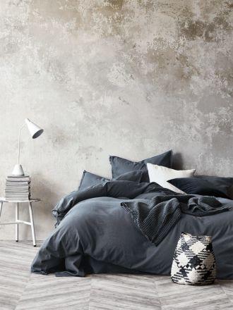 Maison Fringe Quilt Cover - Greystone
