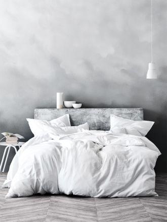 Maison Fringe Quilt Cover - White