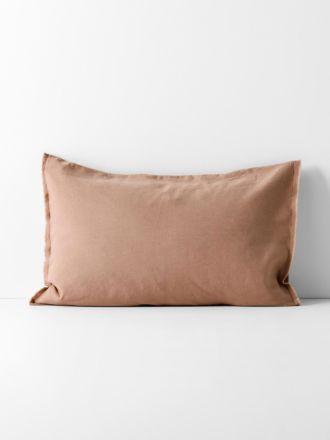 Maison Fringe Standard Pillowcase - Clay