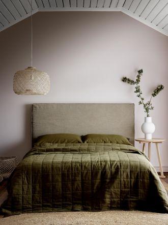 Maison Vintage Bed Cover - Khaki