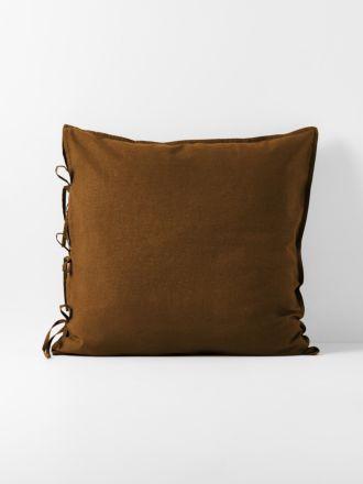 Maison Vintage European Pillowcase - Tobacco
