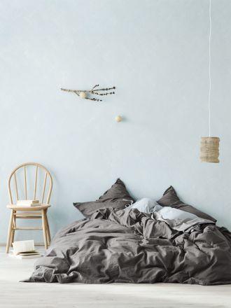 Maison Fringe Quilt Cover - Flint
