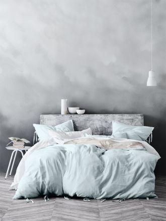 Maison Quilt Cover - Pastel Mint
