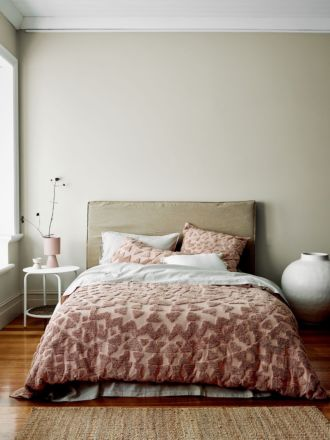 Maya Quilt Cover - Rosewater